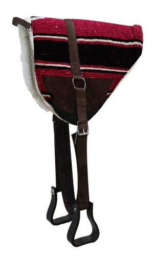 Burgundy Navajo Bareback Saddle Pad