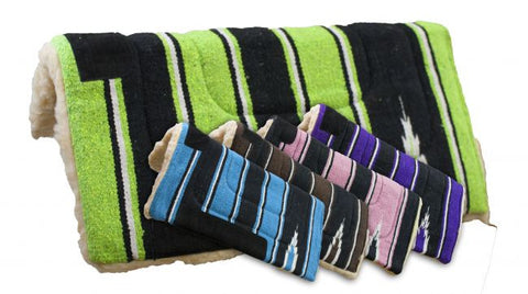 5 Pack Navajo Saddle Pad with Kodel Fleece Bottom
