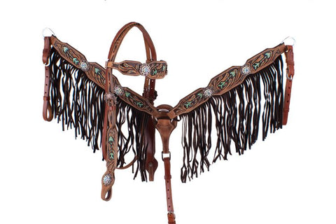 Hand Painted Headstall Set