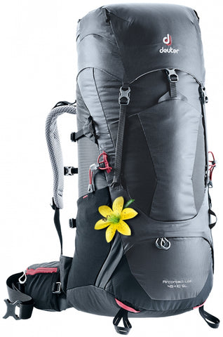 deuter Aircontact Lite 45+10 SL slim line women hiking backpack graphite black