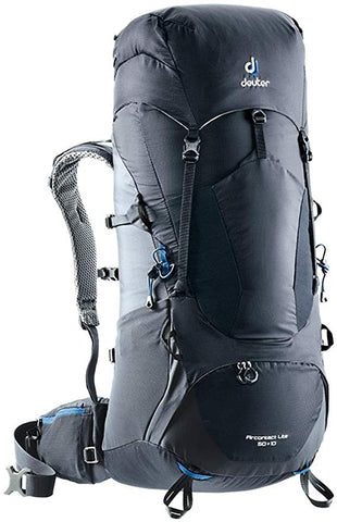 deuter Aircontact Lite 65+10 hiking backpack black graphite