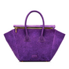 Ava Double Zipper Satchel - Ultraviolet