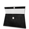 Elize Flat Stingray Clutch - Midnight Black