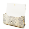 Jacquelyn Baguette Clutch - Cream/Grey