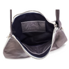 Lindsay Expandable Hobo - Pewter/Navy