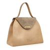 Sofia Structured Satchel - Camel/Taupe