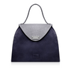 Sofia Structured Satchel - Navy/Grey