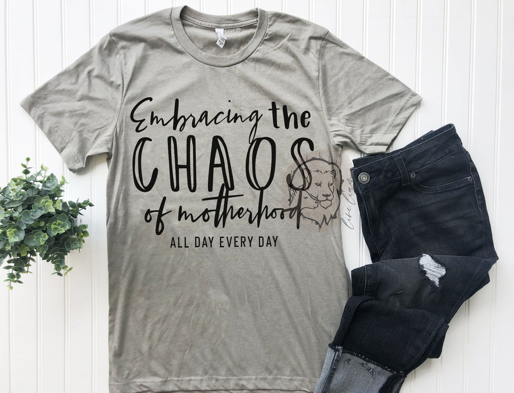 Embracing Chaos - crewneck tee