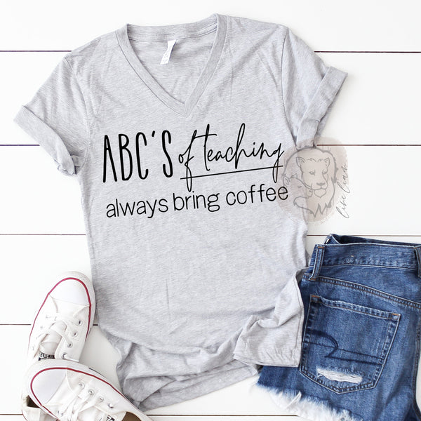 ABC's of teaching - Crew or V-neck tee