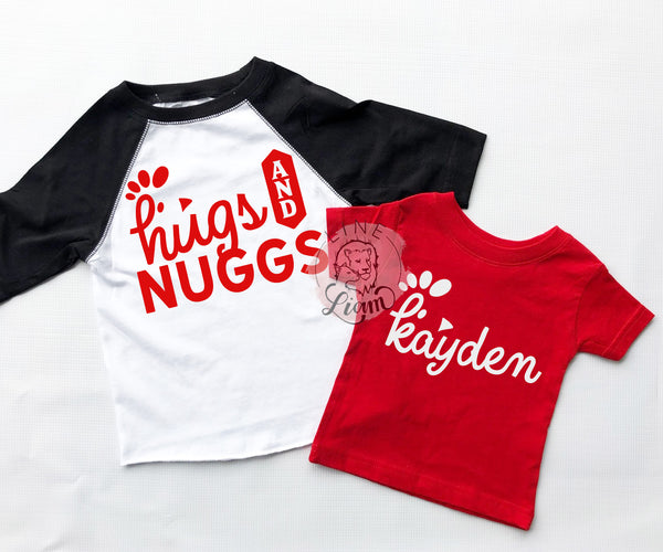 Hugs + Nuggs / Custom Name tee