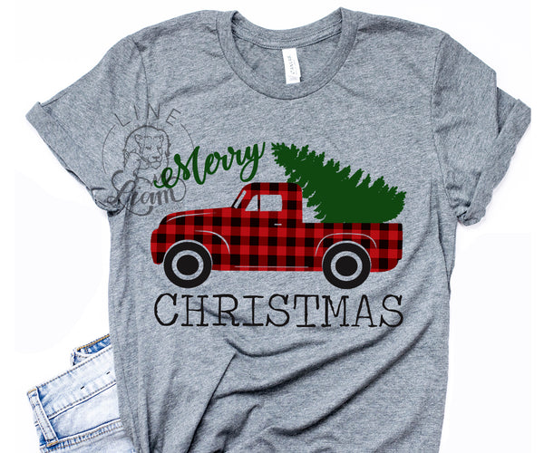 Plaid Christmas Trick - Crewneck Tee