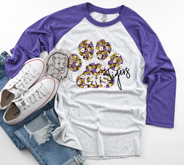 Loud + Proud Floral (Purple/Gold) Adults + Kids