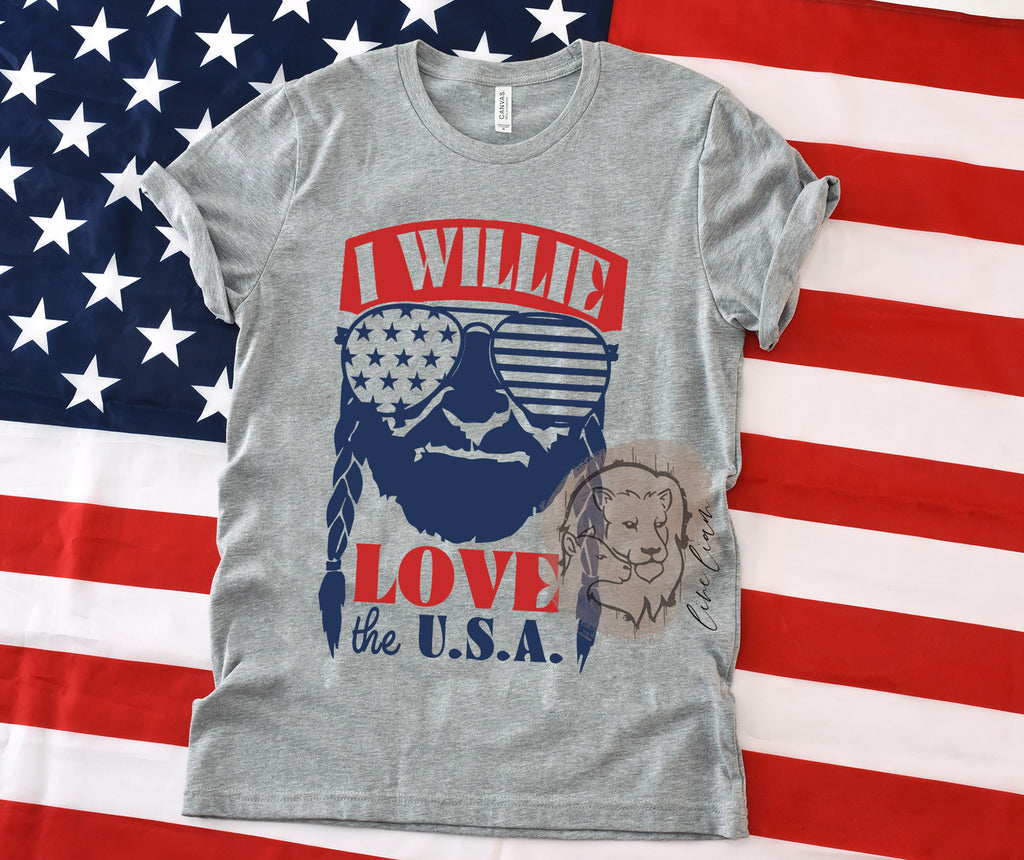 I Willie love the USA -  Crewneck + Muscle Tank