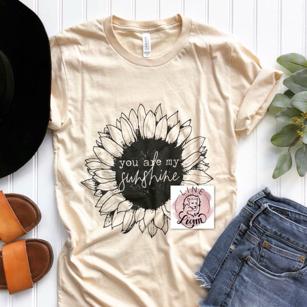 You are my Sunshine- Soft cream Crewneck tee