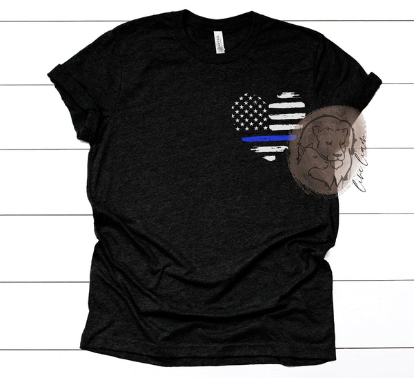 Love my Officer/Deputy - Crew or V-neck tee