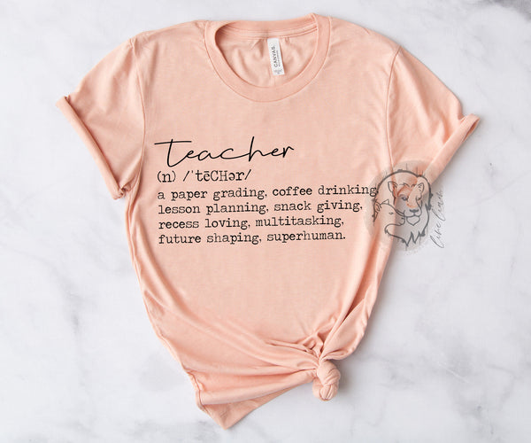 Teacher Definition - Crewneck tee