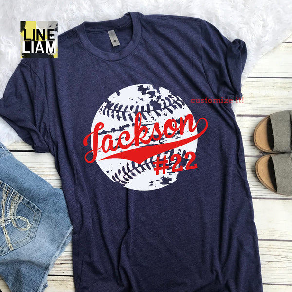 Custom Baseball tee - Crewneck or V-Neck