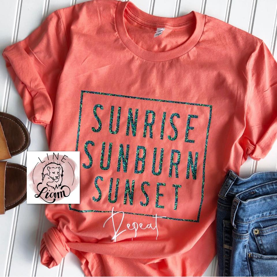 Sunrise, Sunburn, Sunset Repeat - Crewneck + Tank