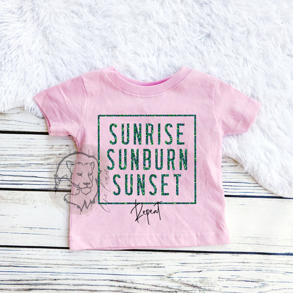Sunrise, Sunburn, Sunset Repeat - Youth sizes