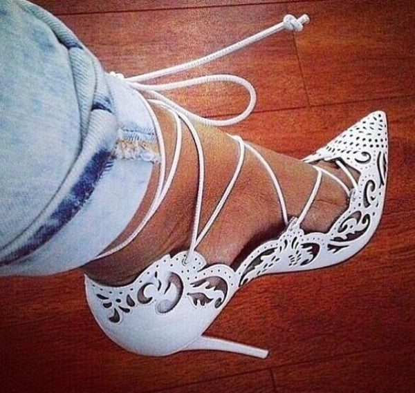 Orianna Lace up Heels