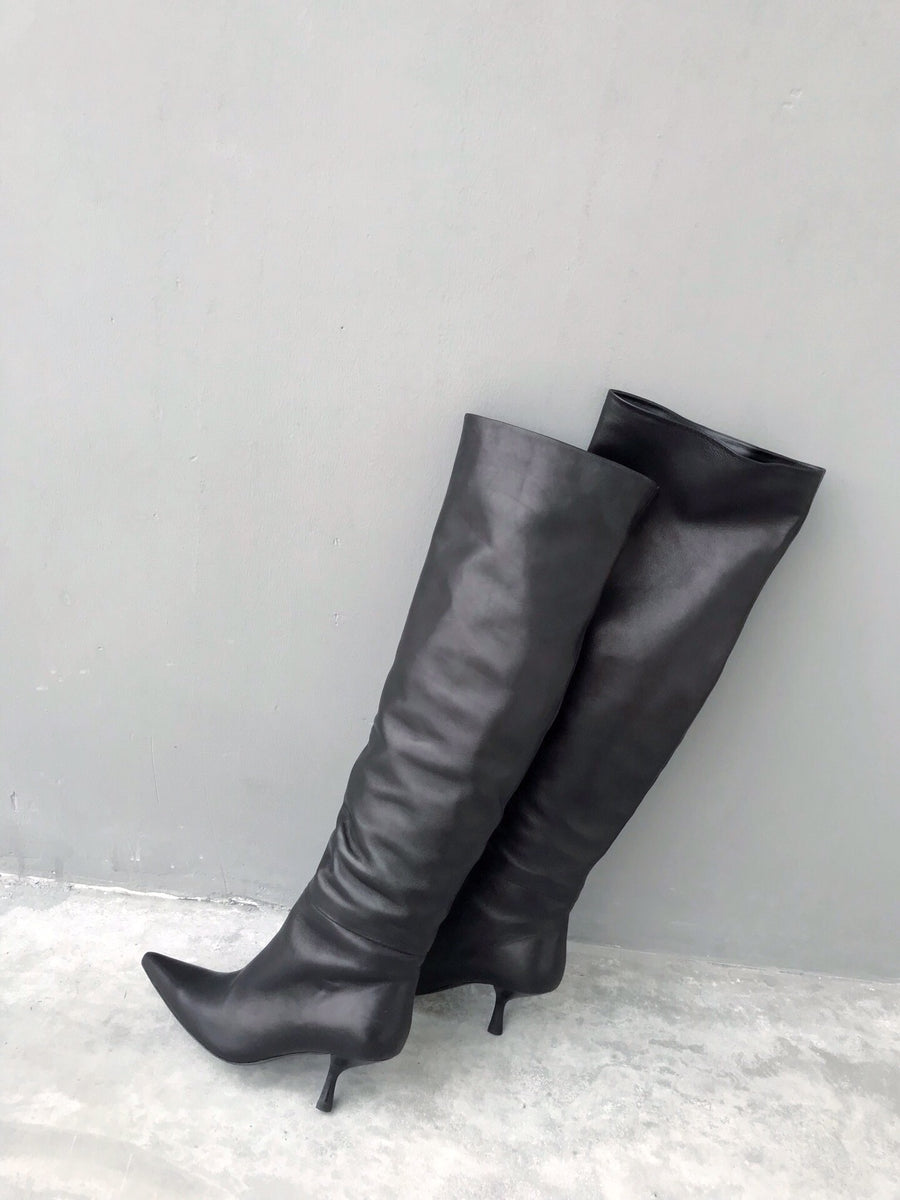 Dernee over the knee boots black