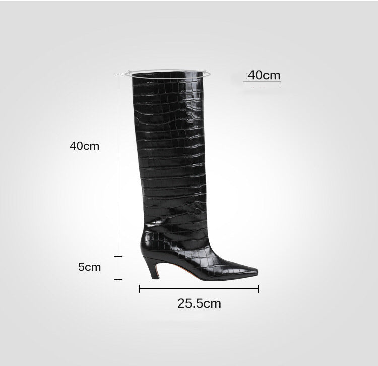 October knee high boots