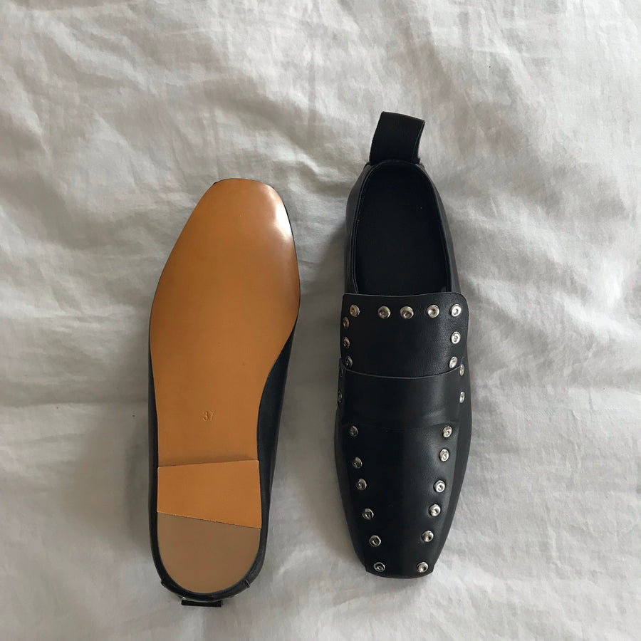 Studded loafers size 37