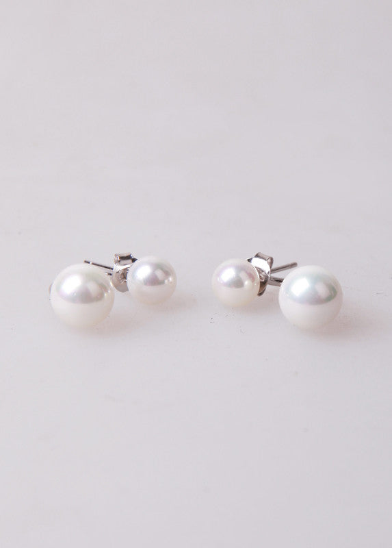 Dolores double pearl earrings