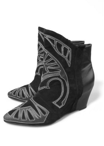 Missouri embroidered ankle wedge Boots