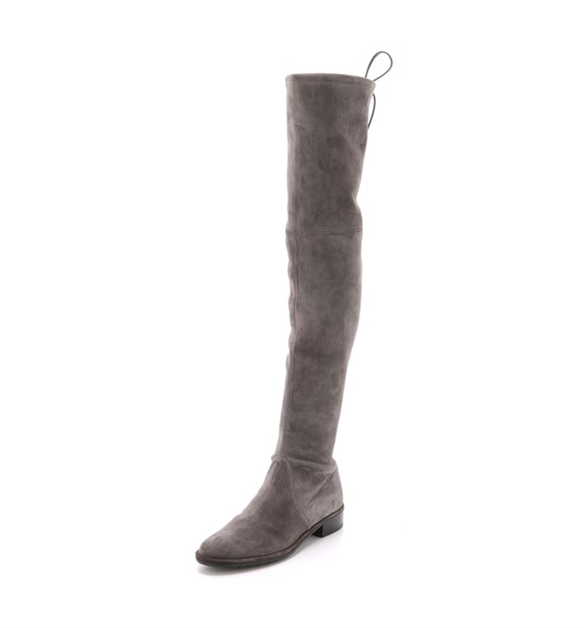 Ellie Over the Knee Boots in Grey