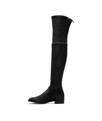 Ellie Over the Knee Boots in Black