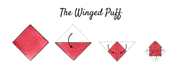 pocket square winged puff fold