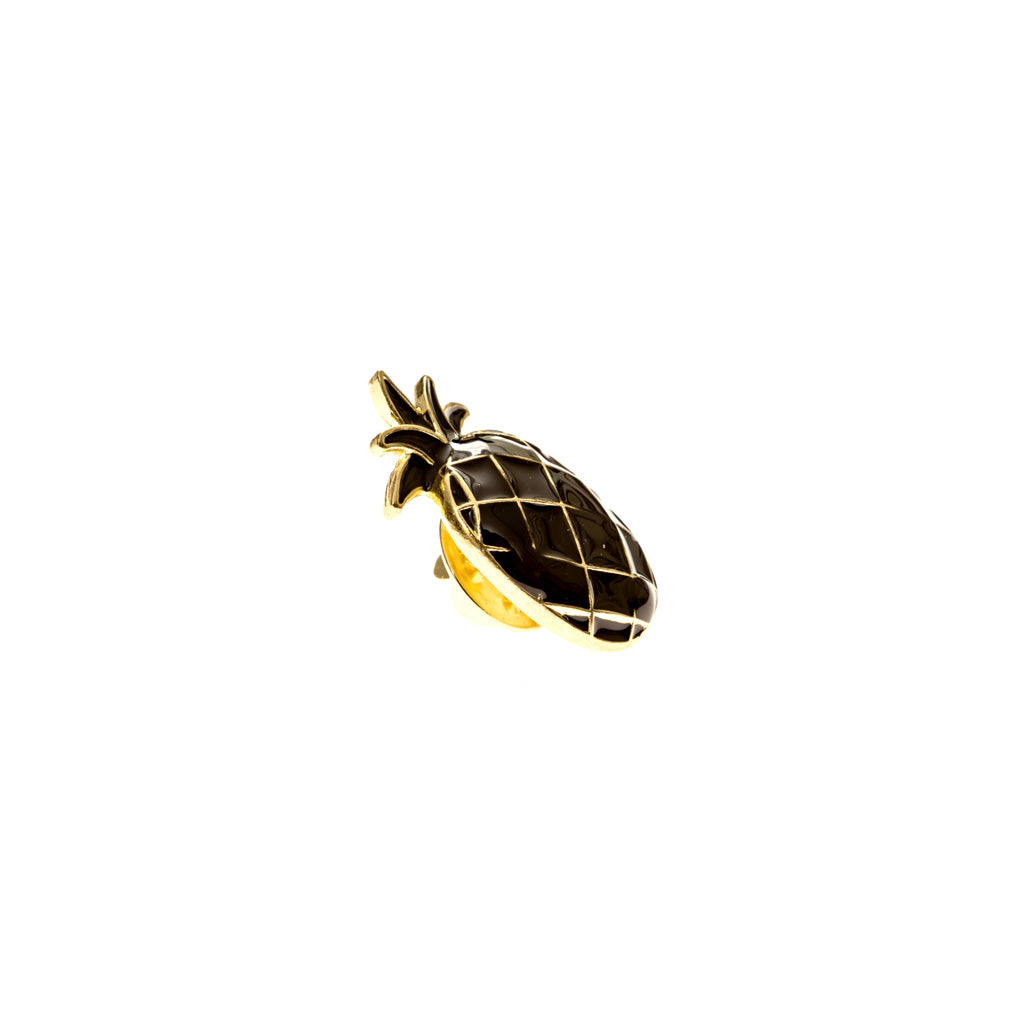 Black Pineapple Lapel Pin