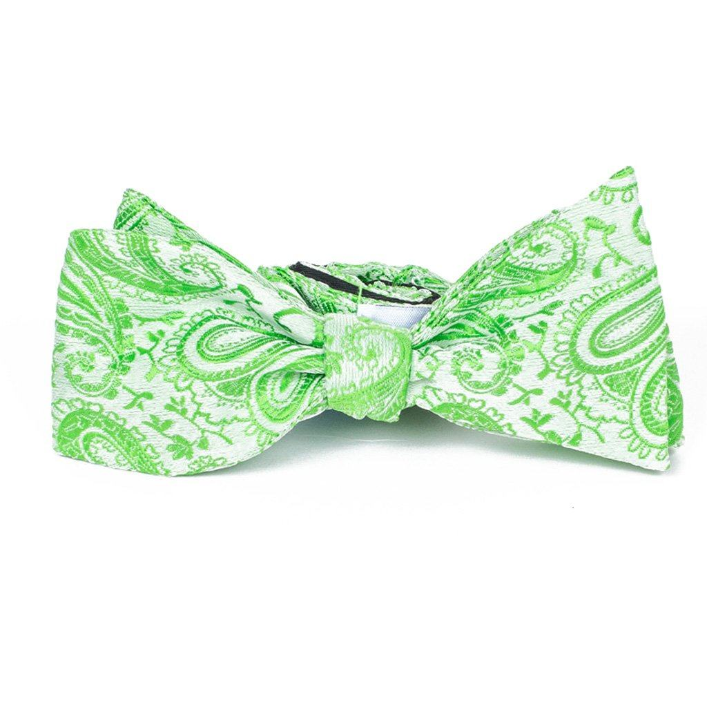 Bow Tie - Apple Green Paisley Silk Bow Tie