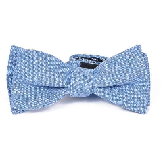 Bow Tie - Blue Cotton Bow Tie