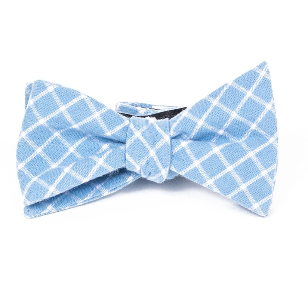 Bow Tie - Blue Plaid Cotton Bow Tie