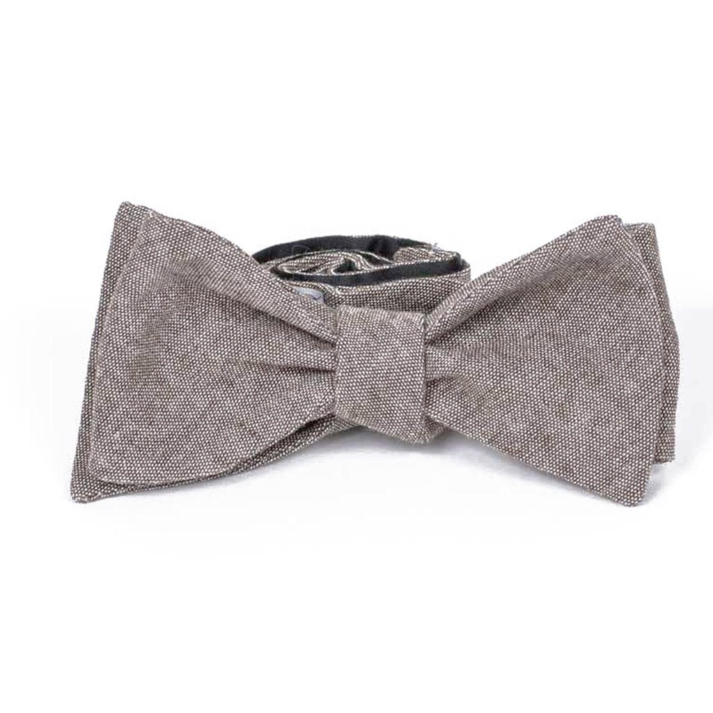 Bow Tie - Brown Cotton Bow Tie