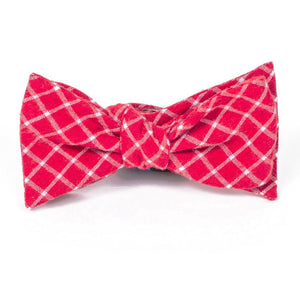 Bow Tie - Cardinal Red Plaid Cotton Bow Tie
