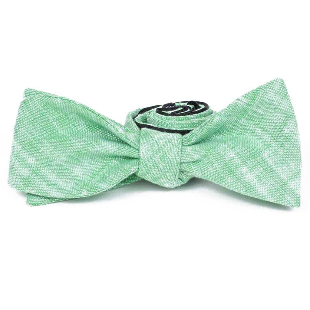 Bow Tie - Green Linen Bow Tie