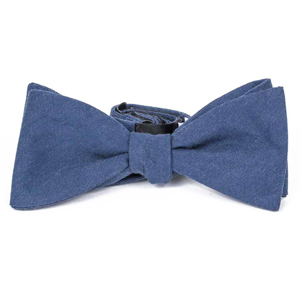 Bow Tie - Navy Blue Cotton Bow Tie