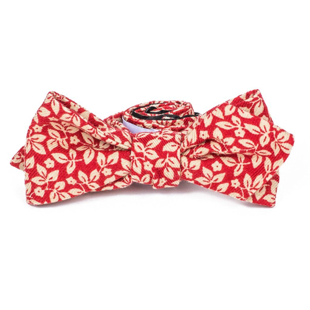 Bow Tie - Red Foliage Cotton Bow Tie