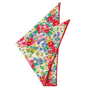 Cotton Pocket Square - Alison Floral Pocket Square