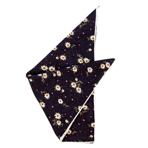Cotton Pocket Square - Ashton Floral Flannel Pocket Square