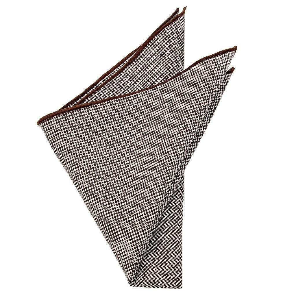 Cotton Pocket Square - Bradley Puppytooth Pocket Square
