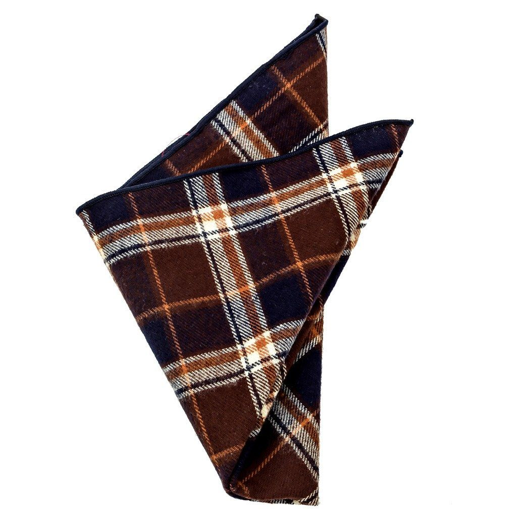 Cotton Pocket Square - Carlton Plaid Flannel Pocket Square