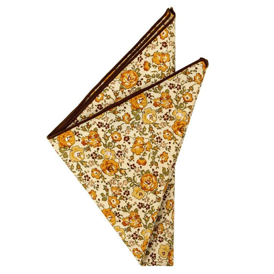 Cotton Pocket Square - Claudia Floral Pocket Square