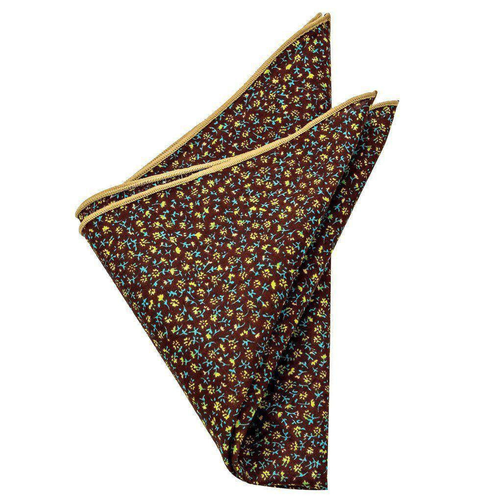 Cotton Pocket Square - Emerson Brown Floral Pocket Square