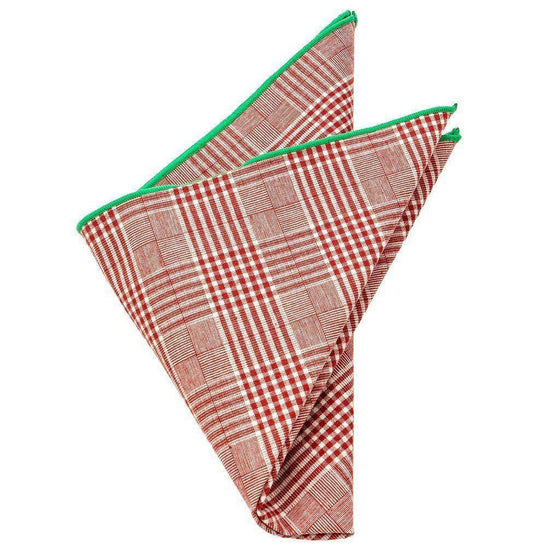 Cotton Pocket Square - Griswold Plaid Pocket Square