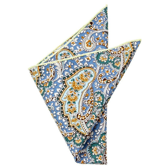 Cotton Pocket Square - Hamilton Paisley Pocket Square