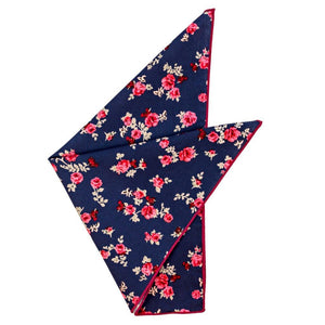 Cotton Pocket Square - Margaret Floral Pocket Square